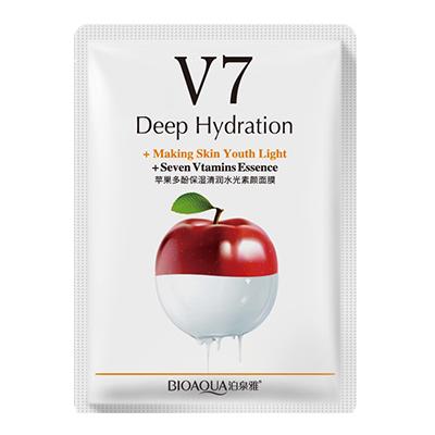 Маска для лица Bioaqua V7 Deep Hydration 30g с экстрактом яблока