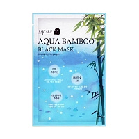 Маска для лица черный бамбук Mijin MJ Aqua Bamboo Black Mask 25g