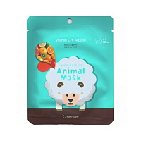 Маска тканевая с витамином С и арбутином Berissom Animal Mask Series Sheep 25ml